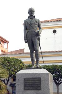 Escultura del marqués del Duero, Sur