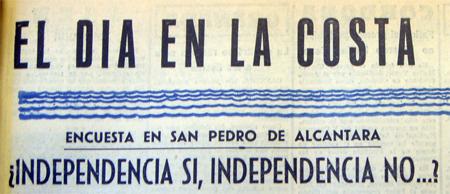 Encabezamiento independencia, Sol de España