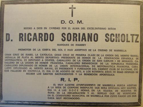 Esquela Ricardo Soriano