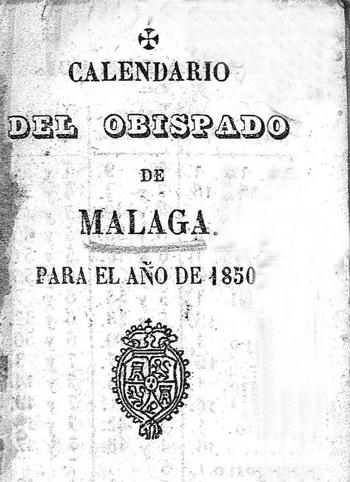 Calendario 1850, portada detalle