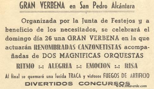 Verbena octubre de 1952