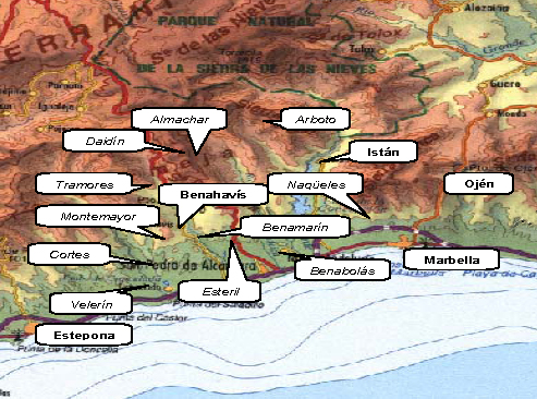 Mapa de las alquerias