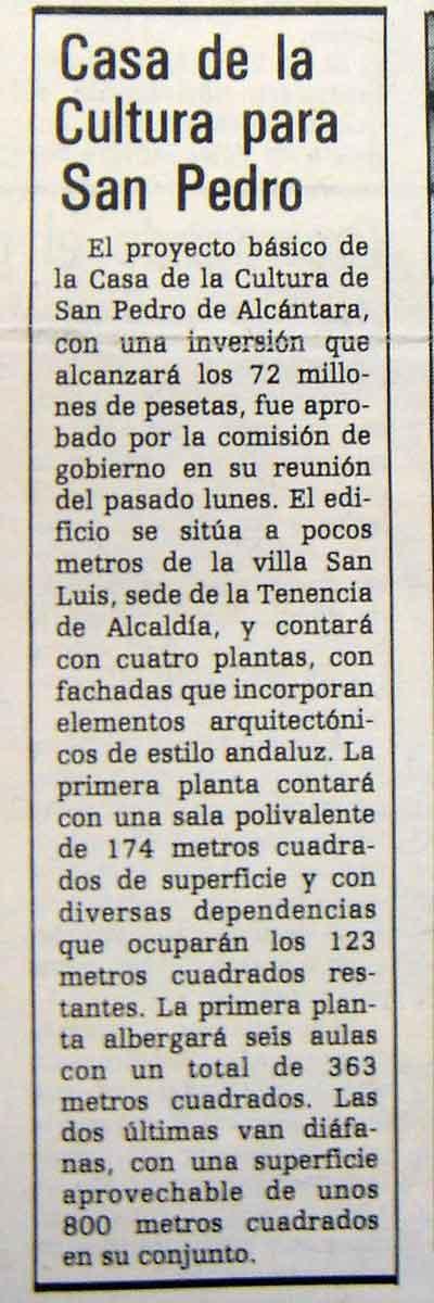 Casa Cultura 1987