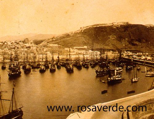 Puerto de Málaga a mediados del siglo XIX